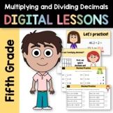 Distance Learning Dividing Decimals for 5th Grade - Interactive Google Slides