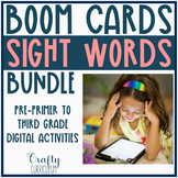 Distance Learning Dolch Sight Words Boom Card Bundle