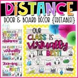Distance Learning Door & Board Decor {Editable!} | Virtual