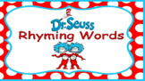 Distance Learning Dr. Seuss Rhyming Words (BOOM CARDS)