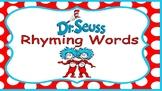Distance Learning Dr. Seuss Rhyming Words (Google Slides)