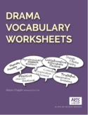 Drama Vocabulary Worksheet Pack, for distance learning or