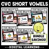 Distance Learning ELA Games   CVC Words Short Vowels Bundl