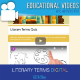 Distance Learning ELA Literary Terms Self Grading DIGITAL