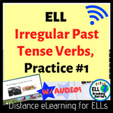 Distance Learning, ELL Irregular Past Tense Verb Practice #1