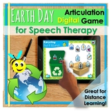 Distance Learning | Earth Day Spring Speech Therapy Articu