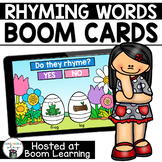 Distance Learning- Easter Rhyming Words Boom Cards Deck