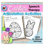 Distance Learning Easter Spring Articulation Activities for Speech Therapy