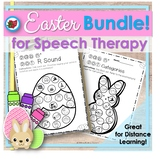 Distance Learning Easter Spring Speech Therapy Bundle!