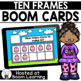 Distance Learning- Easter Ten Frame - How Many More? Boom