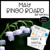 Distance Learning Editable May Bingo Choice Board Activiti