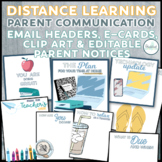 Distance Learning Editable Parent Communication Email Head