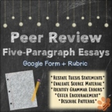 Distance Learning Editable Peer Review Google Form: Five-P