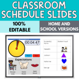 Distance Learning Editable Schedule Slides for Special Education