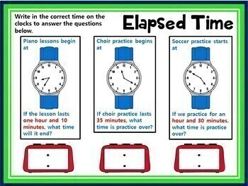 Distance Learning Elapsed Time GOOGLE INTERACTIVE CLASSROOM!