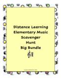 Distance Learning Elementary Music Scavenger Hunt Big Bundle