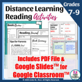 Distance Learning Elements of Fiction One-Pagers For Googl