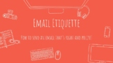Distance Learning: Email Etiquette Lesson