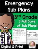 Distance Learning Emergency Sub Plans 3rd Grade