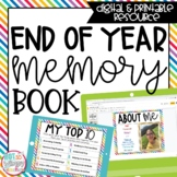End of Year Memory Book - Digital and Printable