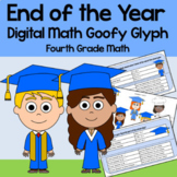 Distance Learning End of the Year 4th Grade Math Goofy Glyph Google Slides