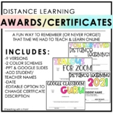 Distance Learning | End of the Year Awards & Certificates