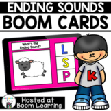 Distance Learning-  Ending Sounds or Final Sounds Boom Cards Deck