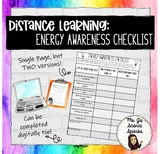Distance Learning: Energy Checklist Activity