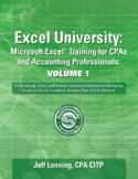 Distance Learning Excel University. Microsoft Excel Training for CPAs