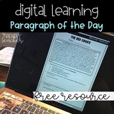 Distance Learning FREE Text Evidence Paragraph of the Day