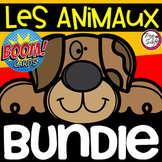 Distance Learning • FRENCH Animals Boom Card BUNDLE