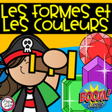Distance Learning • FRENCH BOOM CARDS • 2D Shapes and Colours with AUDIO