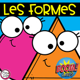Distance Learning • FRENCH BOOM CARDS • 2D Shapes with AUDIO
