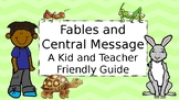 Distance Learning Fables and Central Message PowerPoint Lesson