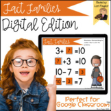 Distance Learning- Fact Families Halloween Digital Task Cards