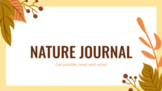 Distance Learning: Fall Nature Poetry Reading and Writing Journal