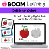 Distance Learning Fall Snap Cube - Digital Snap Cube Activ