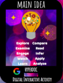 Distance Learning: Finding Main Idea Hyperdoc / Digital Interactive Activity