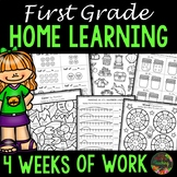Distance Learning Independent Work Packet - First Grade Home Learning Packet