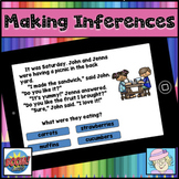 Making Inferences Task Cards First Grade 2nd Grade Boom Cards