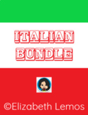 Distance Learning - Flash cards & Activities in Italian - Bundle