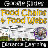 Distance Learning: Food Chains and Food Webs (Google Slides)