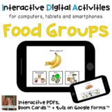 Distance Learning ⋅ Food Groups ⋅ Interactive PDF, Boom Ca