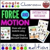 Distance Learning Force and Motion Google Drive Interactive Notebook