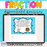 Google Classroom DISTANCE LEARNING Fraction Computation Quizzes