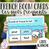 Distance Learning - French Boom Cards - Les mots fréquents