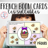 Distance Learning - French Boom Cards - Les syllabes (Pâques)