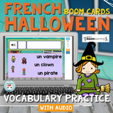 French Halloween Boom Cards for Vocabulary Practice with Audio   Cartes Boom