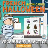 French Halloween Vocabulary Practice with Audio FRENCH BOOM CARDS