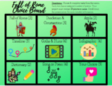 Distance Learning Friendly: Digital The Fall of Rome Choice Board Menu Project
